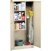 "Sandusky Value Line Janitorial Supply Cabinet EFC1362472-07 - 36""W x 24""D x 72""H Putty"