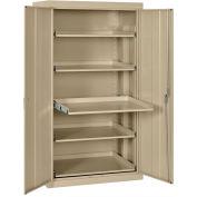 Sandusky Pull-Out Tray Shelf Storage Cabinet ET52362466 - 36x24x66, Tropic Sand