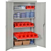 Sandusky Pull-Out Tray Shelf Storage Cabinet ET52362466 - 36x24x66, Dove Gray