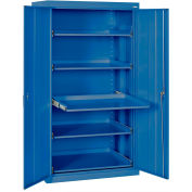 Sandusky Pull-Out Tray Shelf Storage Cabinet ET52362466 - 36x24x66, Blue