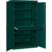 Sandusky Pull-Out Tray Shelf Storage Cabinet ET52362466 - 36x24x66, Forest Green