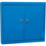 "Sandusky Solid Door Wall Cabinet WA22361230-06 - 36""W x 12""D x 30""H Blue"