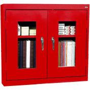 "Sandusky Clear View Wall Cabinet WA2V361230-01 - 36""W x 12""D x 30""H Red"
