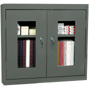 "Sandusky Clear View Wall Cabinet WA2V361230-02 - 36""W x 12""D x 30""H Charcoal"