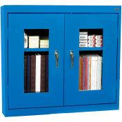 """Sandusky Clear View Wall Cabinet WA2V361230-06 - 36""""W x 12""""D x 30""""H Blue"""