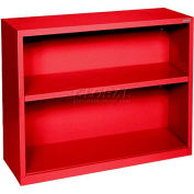 "Steel Bookcase 1 Shelves 34-1/2""W x 13""D x 30""H-Red"