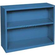 """Steel Bookcase 1 Shelves 34-1/2""""W x 13""""D x 30""""H-Blue"""