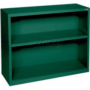 """Steel Bookcase 1 Shelves 34-1/2""""W x 13""""D x 30""""H-Forest Green"""