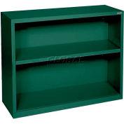"Steel Bookcase 1-Shelf 36""W X 18""D X 30""H-Forrest Green"