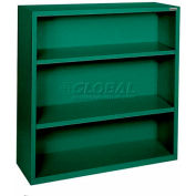 "Steel Bookcase 2-Shelf 46W X 18""D X 42""H-Forrest Green"