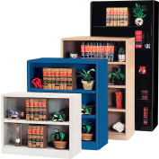 "Radius Edge Bookcase - Black, 36""W x 18""D x 52""H"