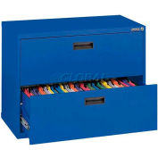 """Lateral File, 2-Drawer, 30W"""" x 18D"""" x 26-5/8H"""", Blue"""