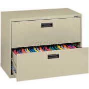 "Lateral File, 2-Drawer, 30W"" x 18D"" x 26-5/8H"", Putty"