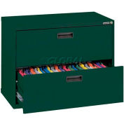 "Lateral File, 2-Drawer, 30W"" x 18D"" x 26-5/8H"", Forest Green"