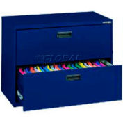 """Lateral File, 2-Drawer, 30W"""" x 18D"""" x 26-5/8H"""", Navy"""