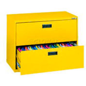 "Lateral File, 2-Drawer, 30W"" x 18D"" x 26-5/8H"", Yellow"