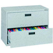 "Lateral File, 2-Drawer, 30W"" x 18D"" x 26-5/8H"", Multi Granite"