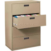 "Lateral File, 4-Drawer, 30W"" x 18D"" x 50-5/8H"", Tropic Sand"