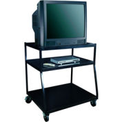 "Wide Body TV Monitor Carts - 32""Lx27-1/2""Wx44""H - Black"