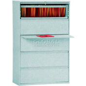 "Lateral File, 5-Drawer, 36W"" x 19-1/4D"" x 66-3/8H"", Multi Granite"