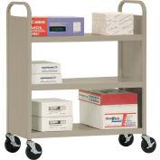 Sandusky® SF336 Double-Sided Flat 3 Shelf Steel Cart 37x18 - Tropic Sand