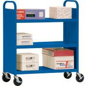 Sandusky® SF336 Double-Sided Flat 3 Shelf Steel Cart 37x18 - Blue