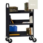 Sandusky® SFV336 Flat Top Shelf Steel Book Cart 37x18 - Putty
