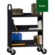 Sandusky® SFV336 Flat Top Shelf Steel Book Cart 37x18 - Forest Green