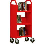 Sandusky® SL33017 3-Shelf Single Sided Mobile Utility Truck 17x13 - Red