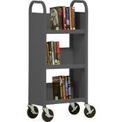Sandusky® SL33017 3-Shelf Single Sided Mobile Utility Truck 17x13-Charcoal