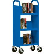 Sandusky® SL33017 3-Shelf Single Sided Mobile Utility Truck 17x13 - Blue