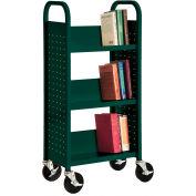 Sandusky® SL33017 3-Shelf Single Sided Mobile Utility Truck 17x13 - Green