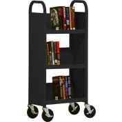 Sandusky® SL33017 3-Shelf Single Sided Mobile Utility Truck 17x13 - Black