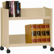 Sandusky® SR227 Single-Side Slanted 2 Shelf Book Cart 28 x 13 - Putty