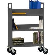 Sandusky® SVF336 Flat Bottom Shelf Steel Book Cart 37x18 - Charcoal