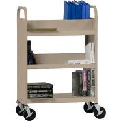 Sandusky® SVF336 Flat Bottom Shelf Steel Book Cart 37x18 - Tropic Sand