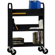 Sandusky® SVF336 Flat Bottom Shelf Steel Book Cart 37x18 - Black