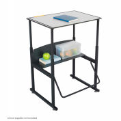 AlphaBetter™ Desk, 28 x 20 Premium Top - Gray & Black