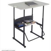 AlphaBetter™ Desk, 36 x 24 Standard Top - Beige & Black