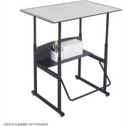 AlphaBetter™ Desk, 36 x 24 Premium Top - Gray & Black