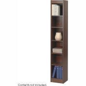 """6-Shelf Veneer Baby Bookcase, 12""""W, Walnut"""