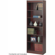"6-Shelf Veneer Baby Bookcase, 24""W, Mahogany"