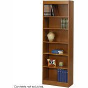 """6-Shelf Veneer Baby Bookcase, 24""""W, Medium Oak"""