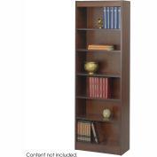"""6-Shelf Veneer Baby Bookcase, 24""""W, Walnut"""