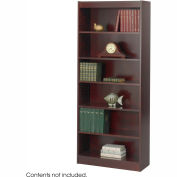 "6-Shelf Veneer Baby Bookcase, 30""W, Mahogany"