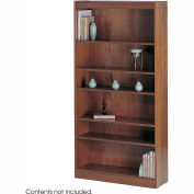 "6-Shelf Veneer Baby Bookcase, 30""W, Medium Oak"