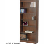 "6-Shelf Veneer Baby Bookcase, 30""W, Walnut"