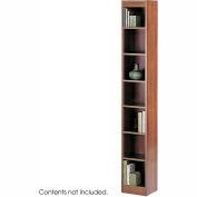 "7-Shelf Veneer Baby Bookcase, 12""W, Cherry"