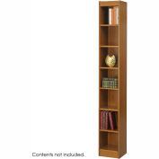 """7-Shelf Veneer Baby Bookcase, 12""""W, Medium Oak"""
