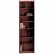 "7-Shelf Veneer Baby Bookcase, 24""W, Mahogany"